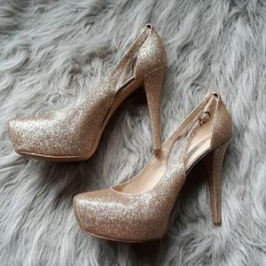 Gold Sparkly Guess Heels